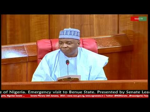 Senate Plenary, 16th January, 2018
