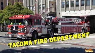 [ELECTRICAL FIRE!] TACOMA Fire Dept. | Engine 1 & Tiller Ladder 1 responding!