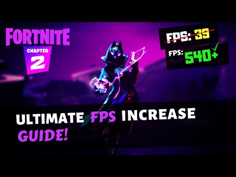 *ULTIMATE* FPS Boost Guide, Lower Ping/Faster Internet! Fortnite Ch. 2, Season 2! Fix Lag/Stutters!