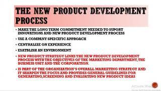 NEW PRODUCT DEVELOPMENT PROCESS MARKETING MGMT