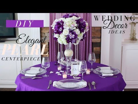 TALL ELEGANT PEARL WEDDING CENTERPIECE | DIY WEDDING DECORATION IDEAS