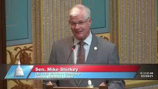 Sen. Shirkey pays tribute to late Sen. Bill Bullard Jr.