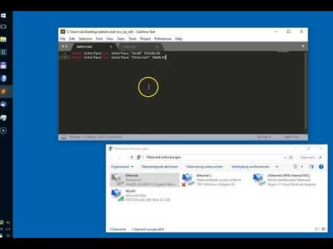 Windows - Netzwerkadapter Mit Batch Dateien Aktivieren Und Deaktieren