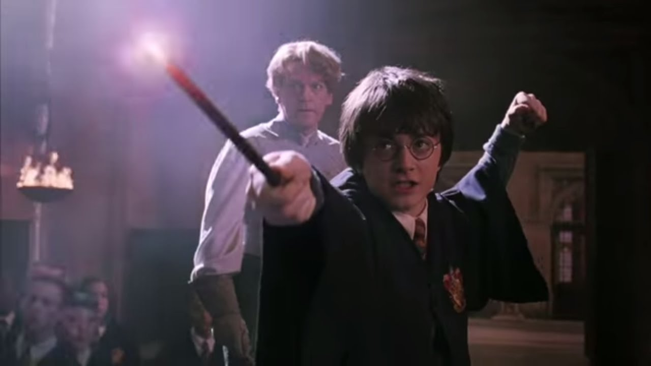 harry and malfoy duel harry potter and the chamber of