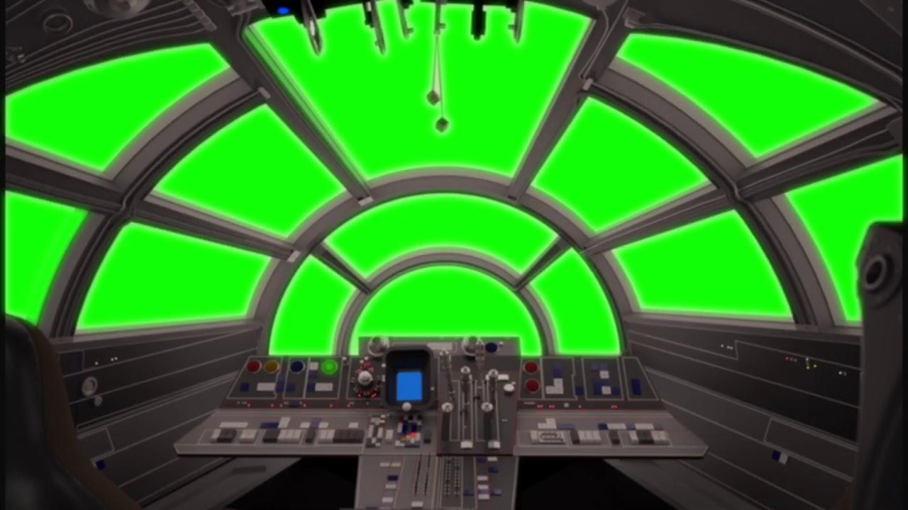 green screen star wars millennium falcon cockpit youtube. Black Bedroom Furniture Sets. Home Design Ideas
