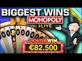 Top 5 BIGGEST WINS on MONOPOLY Live