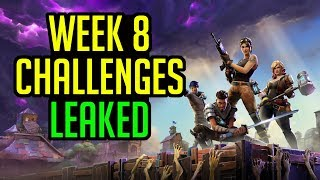 Fortnite Battle Royale Week 8 CHALLENGES LEAKED - Tacos locations, Token Season 3