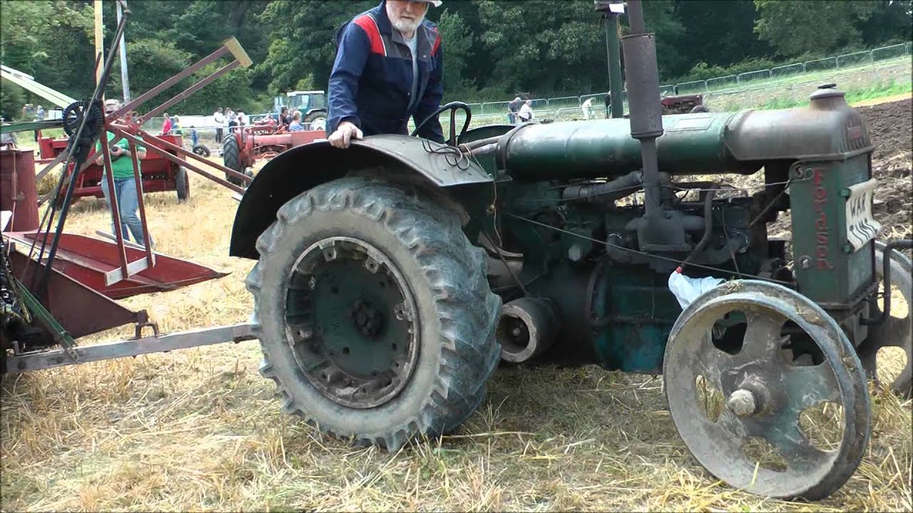Steel Wheel Tractor : Vintage fordson tractor with steel front wheels youtube