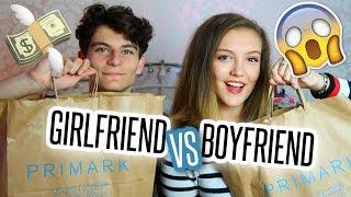BOYFRIEND VS GIRLFRIEND £20 OUTFIT CHALLENGE! | BeautySpectrum