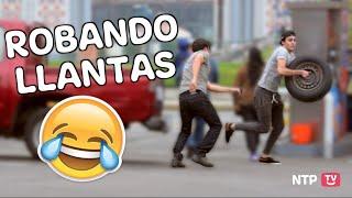 ROBANDO LLANTAS DE AUTOS | BROMA PESADA - NoTePiquesTV