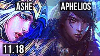 ASHE \u0026 Nautilus vs APHELIOS \u0026 Thresh (ADC) | 4/0/8, Rank 6 Ashe | NA Challenger | v11.18