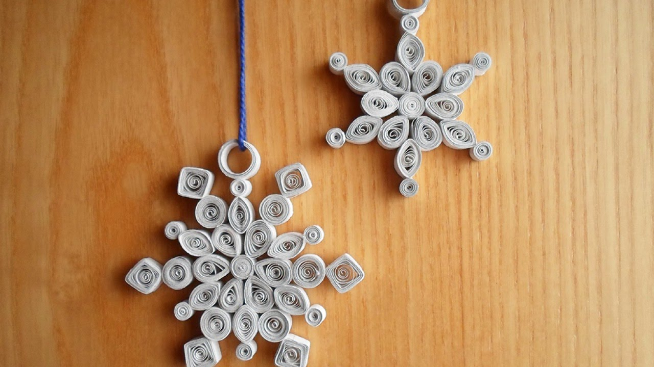Make beautiful quilled snowflake decorations diy crafts make beautiful quilled snowflake decorations diy crafts guidecentral youtube solutioingenieria Image collections