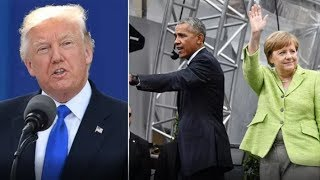 PRESIDENT TRUMP GIVES NASTY SURPRISE TO OBAMA AND MERKEL!