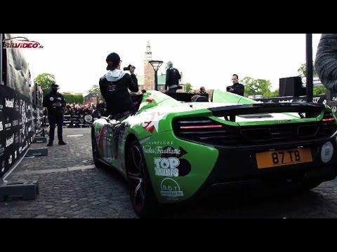Gumball 3000 Copenhagen 2015 - Loud Revs + Cool Carwrap!!