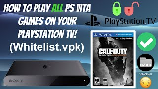 How To Play All PS Vita Games On Your PSTV! (Whitelist.VPK 1.1) 🛠️ #HENkaku #PSTV #Whitelist