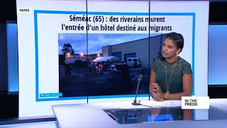 Building walls  French protesters block access to hotel migrant shelter