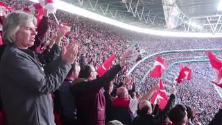Arsenal Fans at Wembley: FA Cup Semi Final vs Manchester City