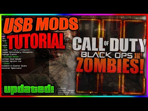 Black Ops 3 Zombies: NEW USB MOD MENU TUTORIAL | + DOWNLOAD | XBOX ONE, PS4, XBOX, PS3