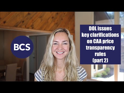 DOL issues FAQs on key CAA price transparency rules (part 2)
