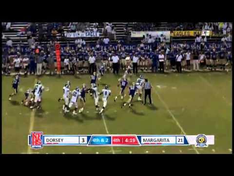 Dorsey #21 Romon Harper rushes for a 50 yard touchdown.