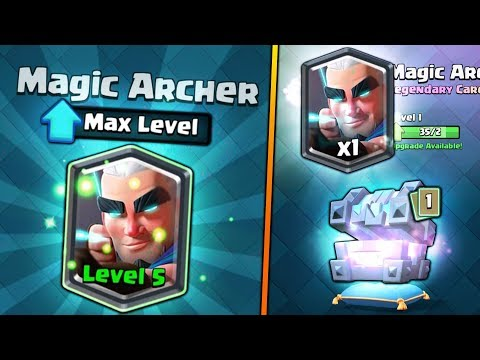 FULLY MAXED MAGIC ARCHER UPGRADE! | Clash Royale | BIG LEGENDARY KINGS CHEST OPENING SPREE!