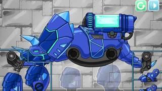 Dino Robot Tricera Blue (Робот динозавр Трицератопс) - прохождение игры