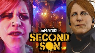 Infamous Second Son All Bosses Battle Fight, Fetch, Eugene, Augustine - End Final Boss