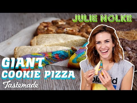 Download Youtube: Giant Cookie Pizza | 5 Second Rule with Julie