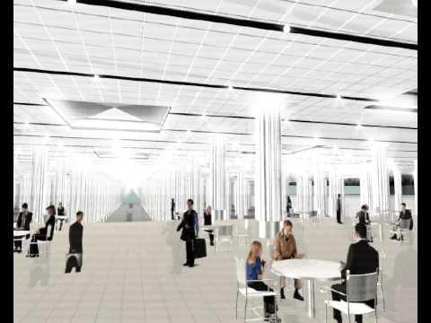 Lighting design austria dubai airport interior lighting animation