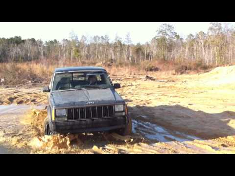 "My Jeep Comanche going over a steep hill. ""outside view 2"""