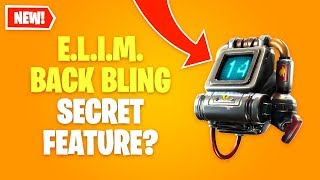 FORTNITE E.L.I.M. BACK BLING SECRET FEATURE *Hunting Party A.I.M. Skin Set*