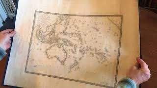 Video Oceania Australia Pacific 1820 New Holland Brue old map download MP3, 3GP, MP4, WEBM, AVI, FLV Mei 2018