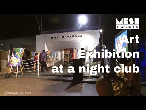 Art exhibition in a night club??!!
