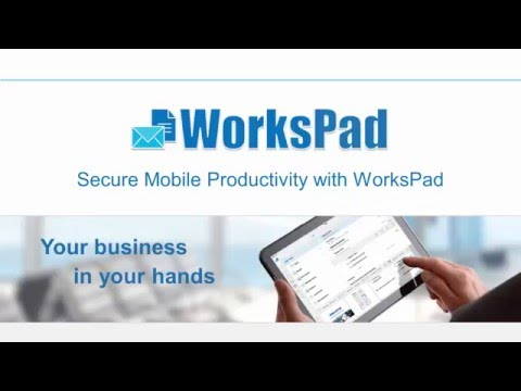 Secure Mobile Productivity with WorksPad - webinar (English)