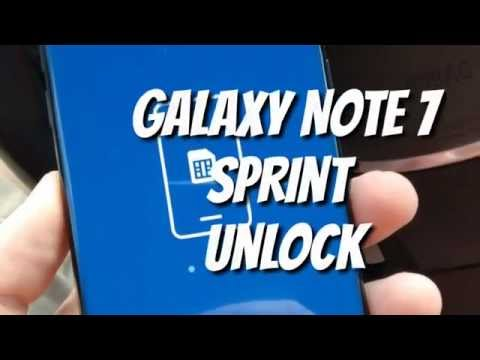 How to Unlock Sprint Galaxy Note 7 for any sim