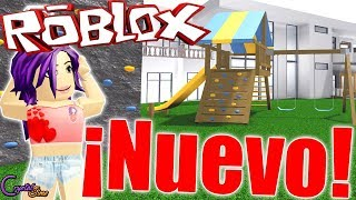 I BUY THE NEW CHILDREN'S PARK FOR MY GARDEN BLOXBURG ROBLOX CRYSTALSIMS