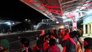 IRFCA Inaugural Passenger Train 55671 UP Rangiya-Dekargaon (Tezpur) Passenger arriving at Dekargaon thumbnail