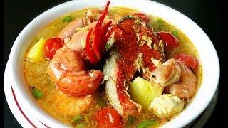 Hot and sour soup *( សំឡរ ម្ជូរយួន )* - Cambodian Style - Khmer