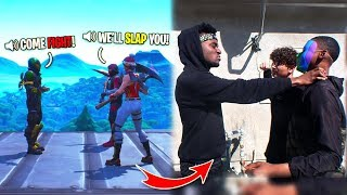 CONFRONTING 2 Fortnite Trash Talkers FACE TO FACE... THEY FLAKED!