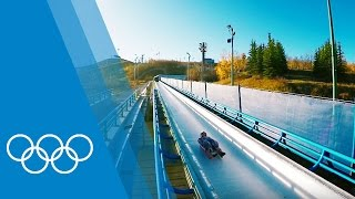 Luge training with Next Gen Canada
