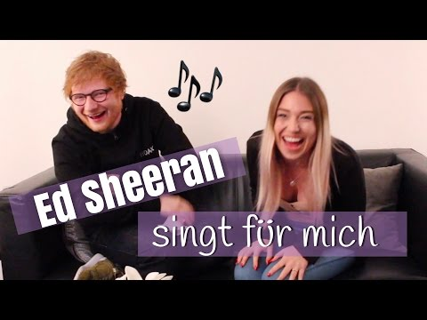 "Ed Sheeran Sings For Me "" Shape Of You "" 😍