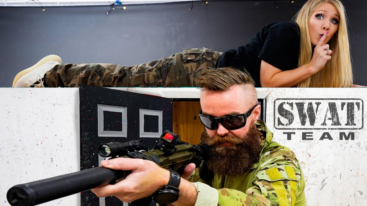 I Challenged an Actual SWAT Team to Hide and Seek in their Headquarters!