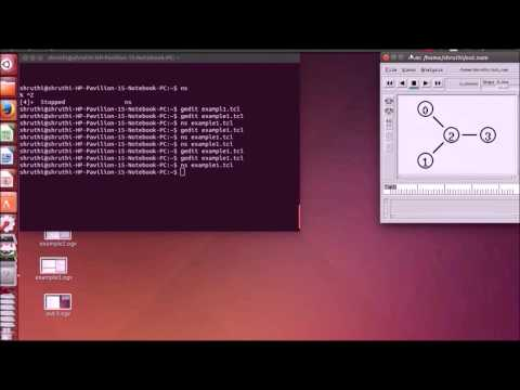 Installation and Demonstration of Ns2 in ubuntu 14.04