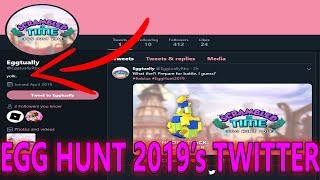 SCRAMBLED IN TIME (Eggtually's Twitter FOUND!) Roblox 2019 Egg Hunt