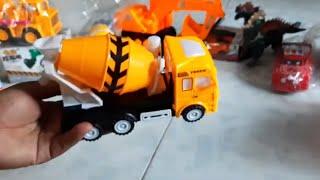 xe bồn trộn bê tông đồ chơi điện tử trẻ em _binbin tv