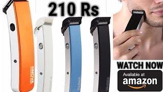 Best Budget Trimmer for Men (Nova) Nova NHT-1045 Rechargeable Cordless Beard Trimmer for Men (Blue)
