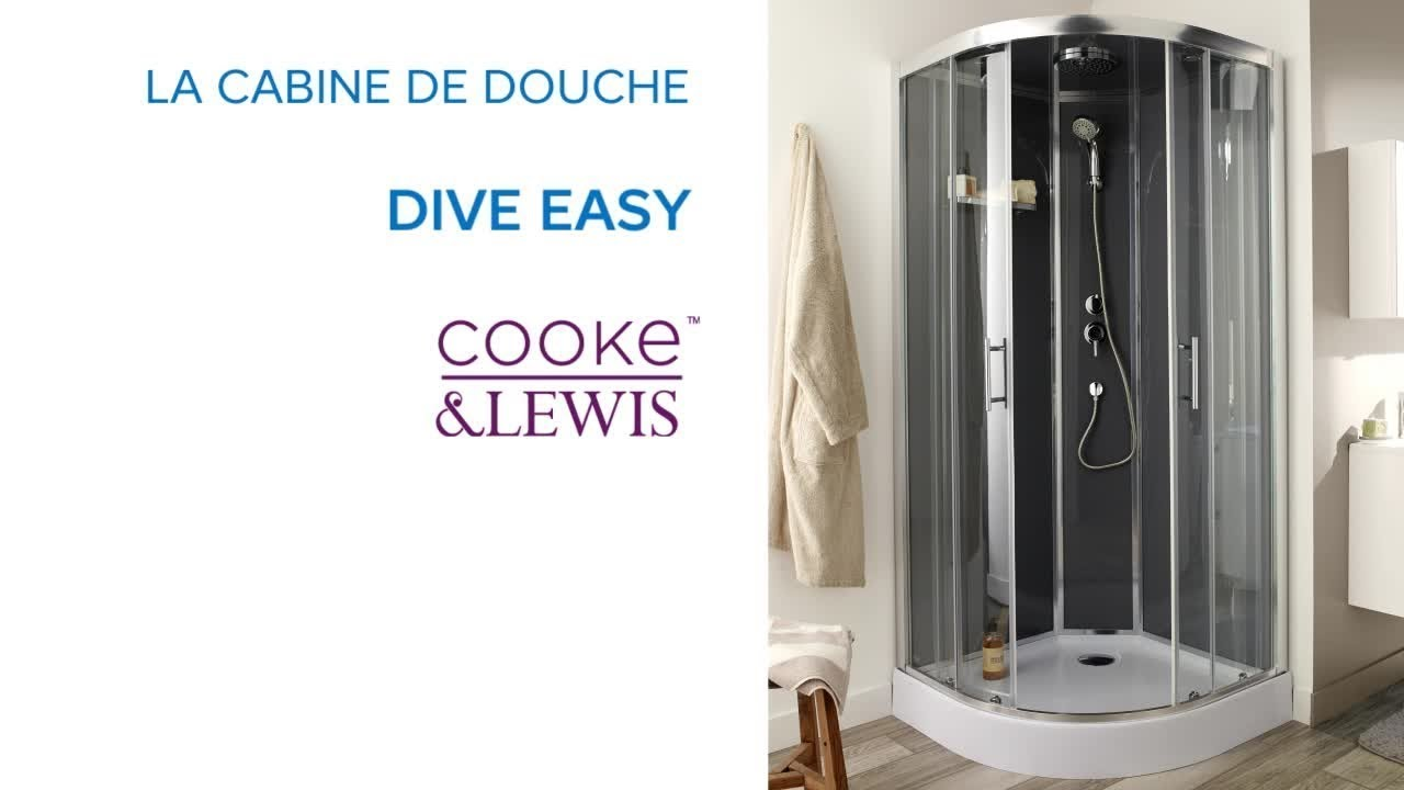 cabine de douche dive easy cooke lewis castorama youtube. Black Bedroom Furniture Sets. Home Design Ideas