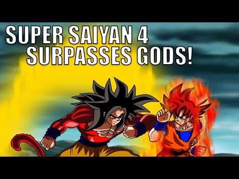 How Super Saiyan 4 Goku Surpasses Even GODS! Super Saiyan 4 VS Super Saiyan God!
