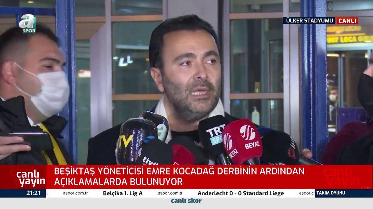 """Beşiktaş Yöneticisi Emre Kocadağ: ''Fenerbahçe'nin Oyuncusu İkinci Sarı Kartı Görmeyince Şaşırdı!"""""""