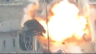Ракета террористов ИГИЛ догоняет солдат сирийской армии – видео